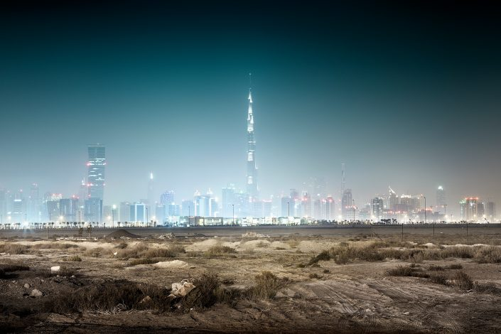 Dubai Skyline in the desert