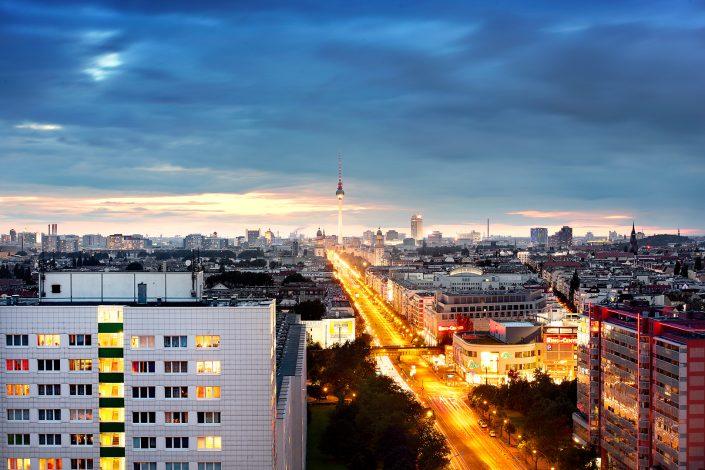 Berlin Frankfurter Tor Skyline