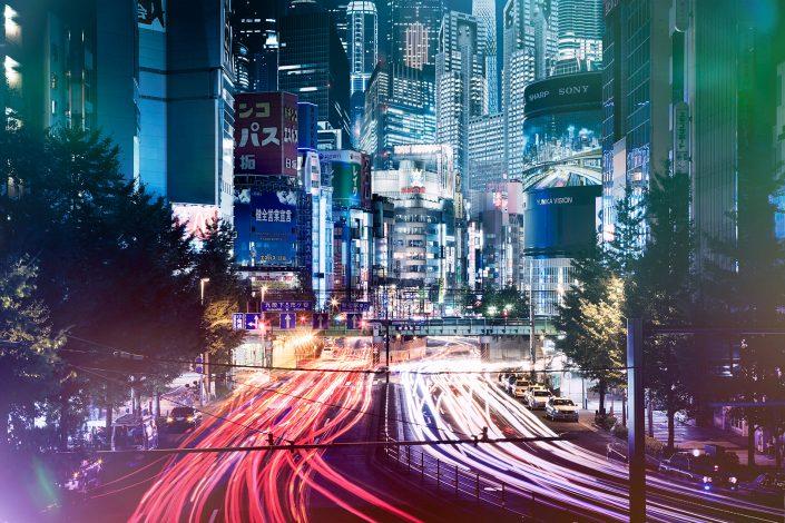 Neon Street science fiction future Shinjuku Tokyo