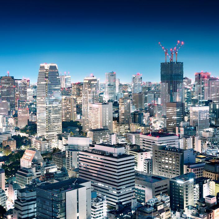 View over Tokyo density