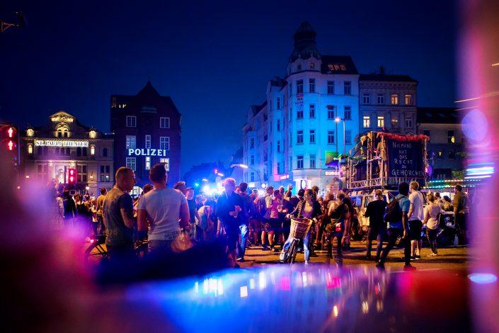 G20 Protest Reeperbahn