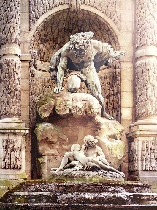 La Fontaine de Medicis statue in parise