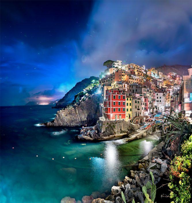 Cinque Terre Riomagiorre at Night